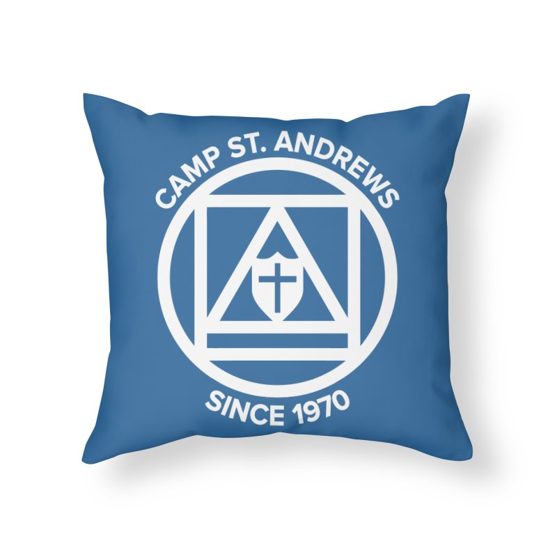 CSA Scarf Symbol Home Throw Pillow by Camp St. Andrews