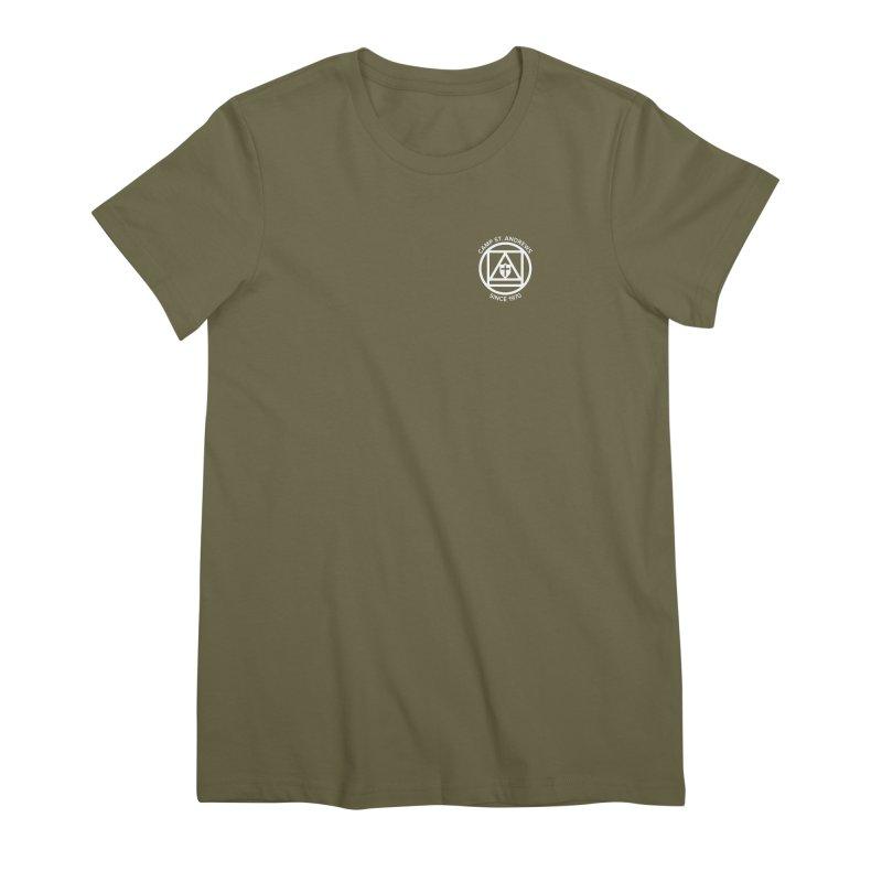 CSA Scarf Symbol Women's Premium T-Shirt by Camp St. Andrews