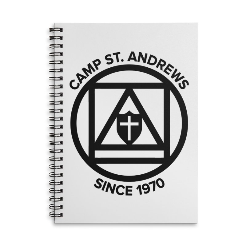 CSA Scarf Symbol Accessories Lined Spiral Notebook by Camp St. Andrews