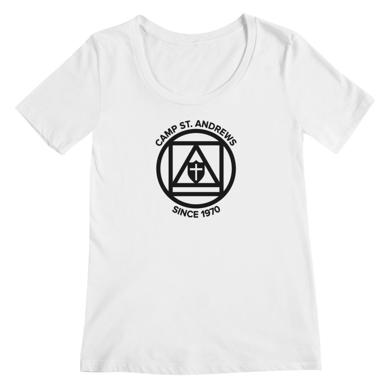 CSA Scarf Symbol Women's Regular Scoop Neck by Camp St. Andrews