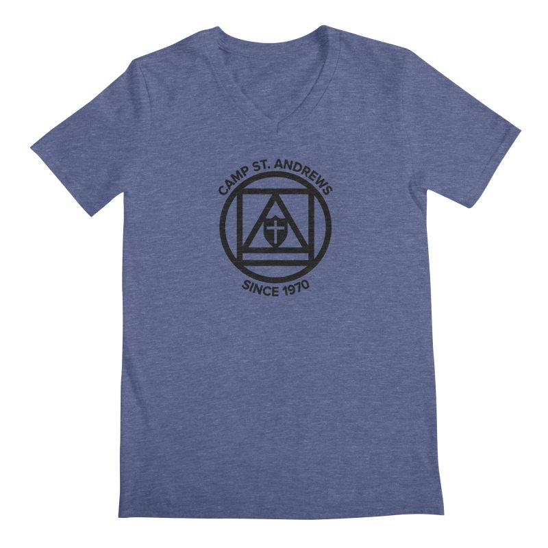 CSA Scarf Symbol Men's Regular V-Neck by Camp St. Andrews