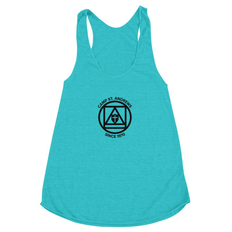 CSA Scarf Symbol Women's Racerback Triblend Tank by Camp St. Andrews