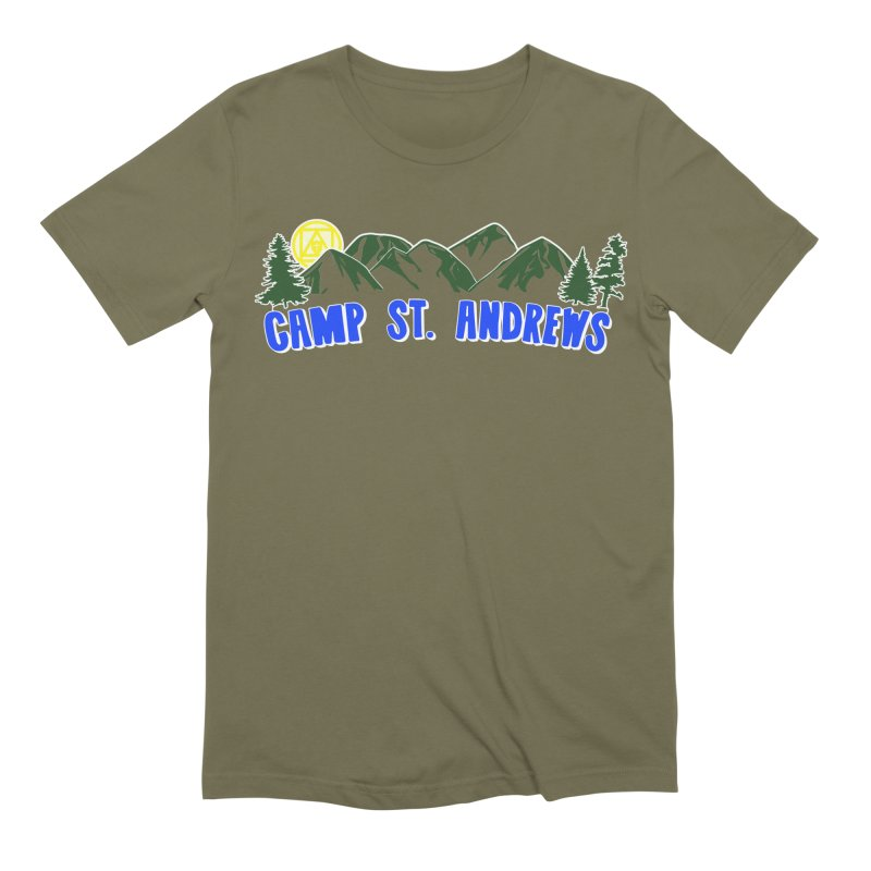 CSA Mountains Color Men's Extra Soft T-Shirt by Camp St. Andrews