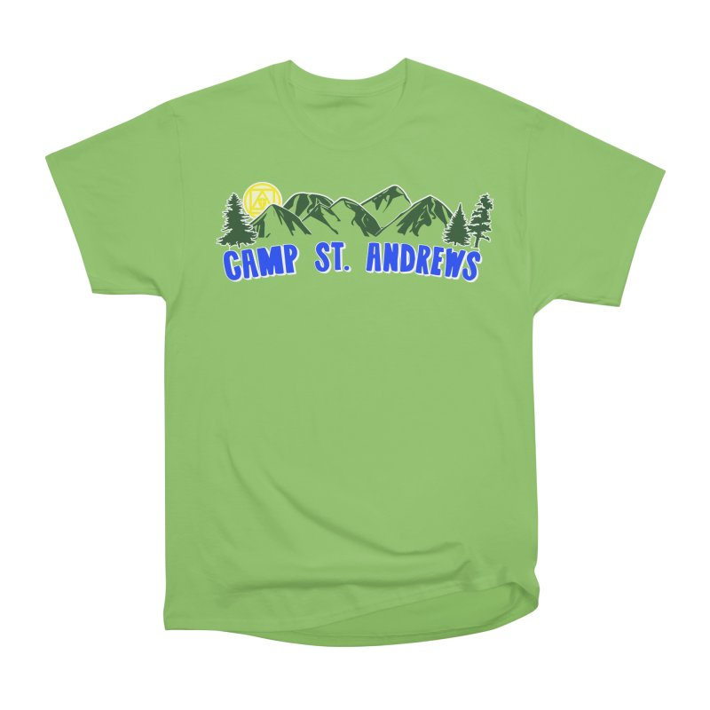 CSA Mountains Color Men's Heavyweight T-Shirt by Camp St. Andrews