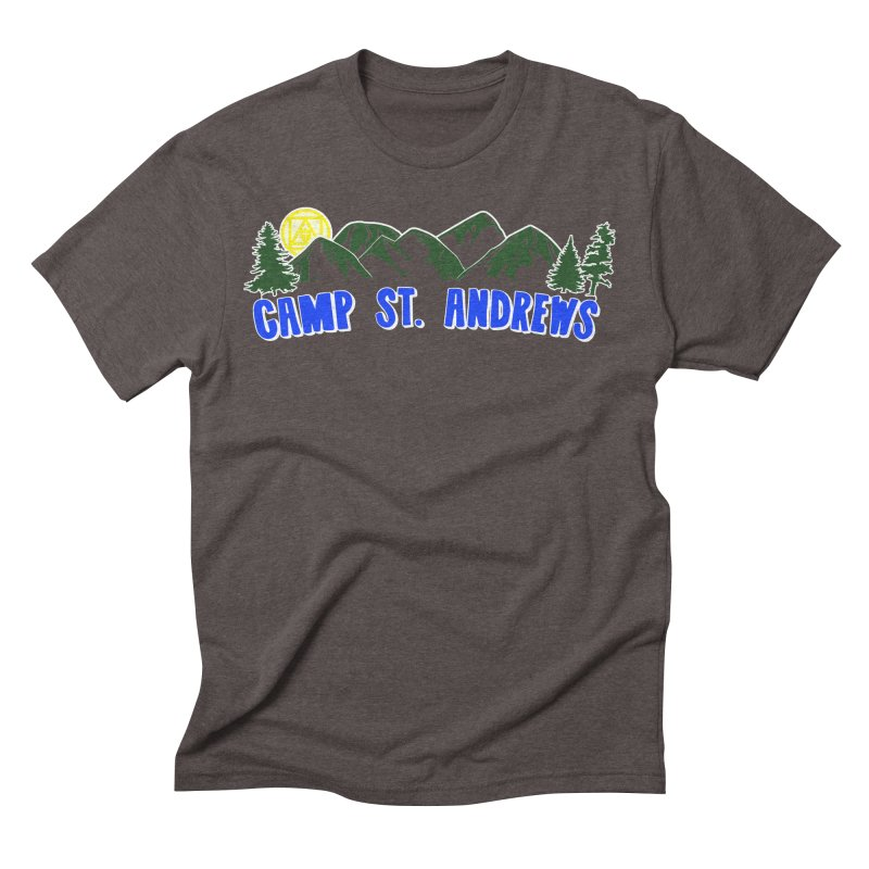 CSA Mountains Color Men's Triblend T-Shirt by Camp St. Andrews