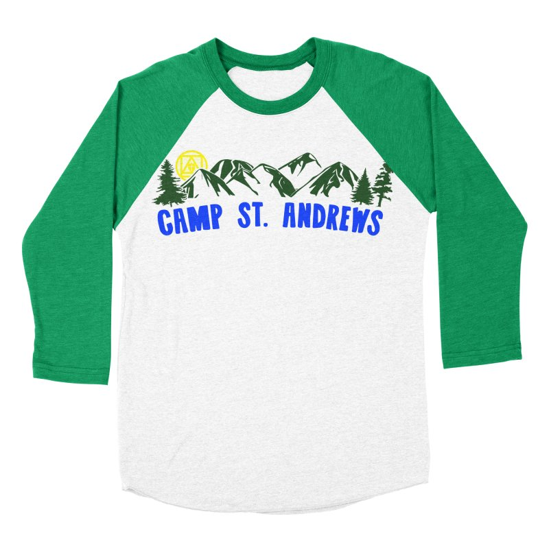 CSA Mountains Color Men's Baseball Triblend Longsleeve T-Shirt by Camp St. Andrews