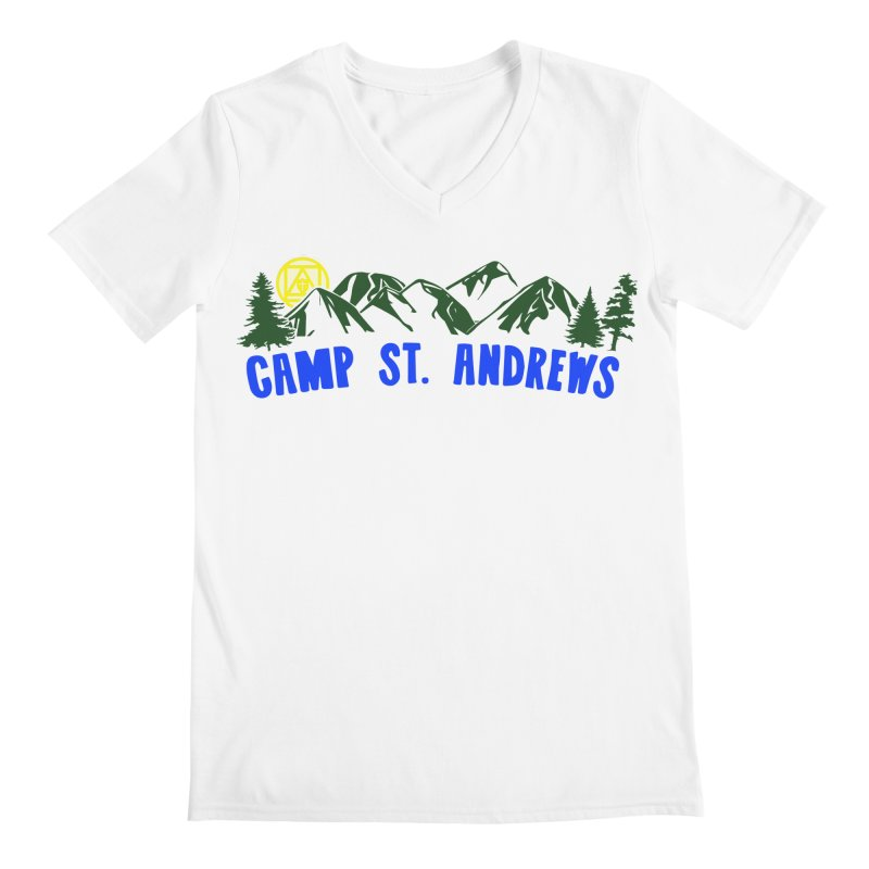 CSA Mountains Color Men's Regular V-Neck by Camp St. Andrews