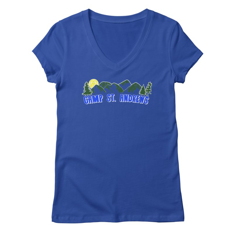 CSA Mountains Color Women's Regular V-Neck by Camp St. Andrews