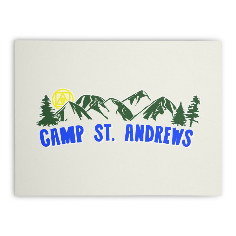 CSA Mountains Color Home Stretched Canvas by Camp St. Andrews