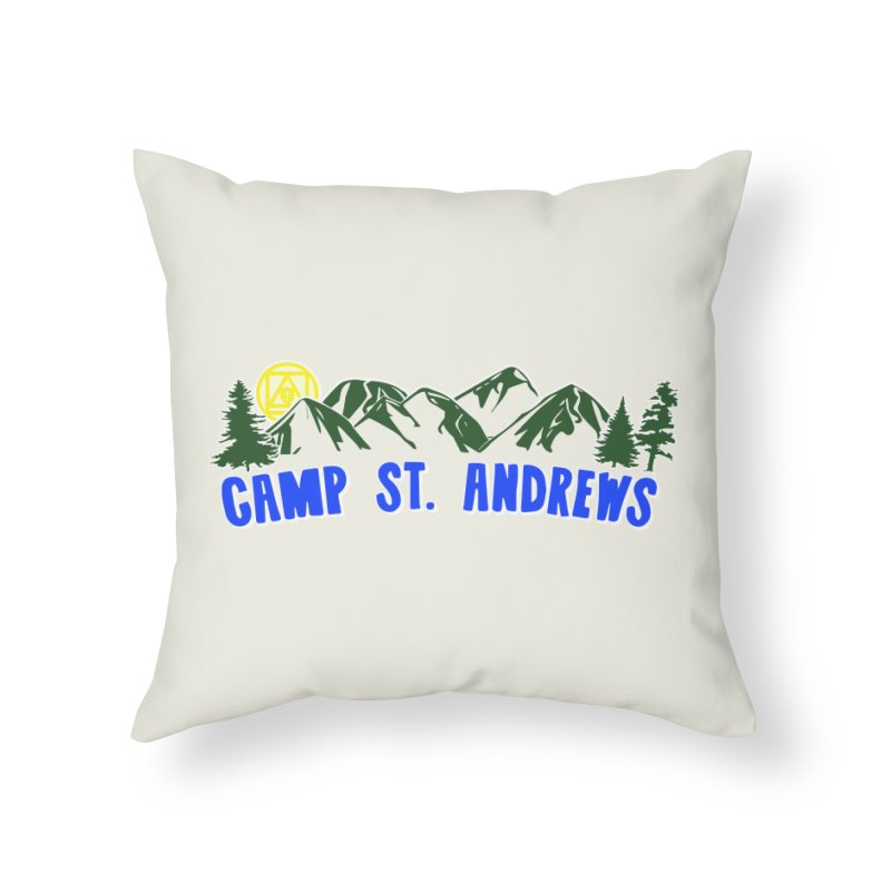CSA Mountains Color Home Throw Pillow by Camp St. Andrews