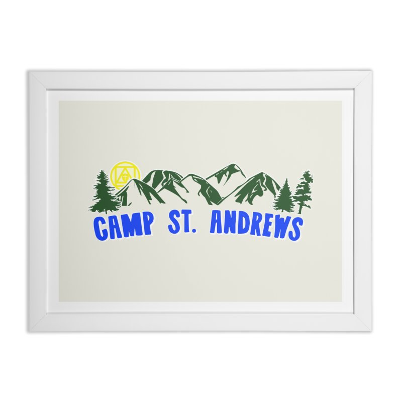CSA Mountains Color Home Framed Fine Art Print by Camp St. Andrews