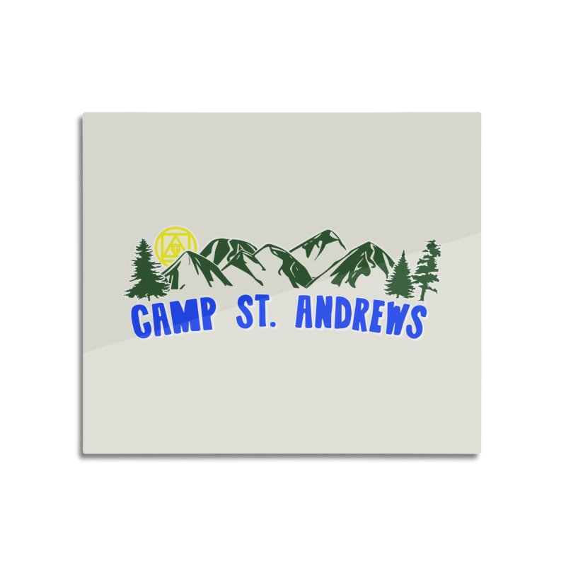 CSA Mountains Color Home Mounted Aluminum Print by Camp St. Andrews