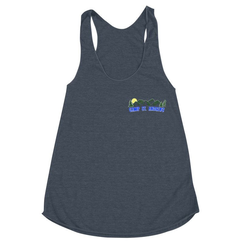 CSA Mountains Color Women's Racerback Triblend Tank by Camp St. Andrews