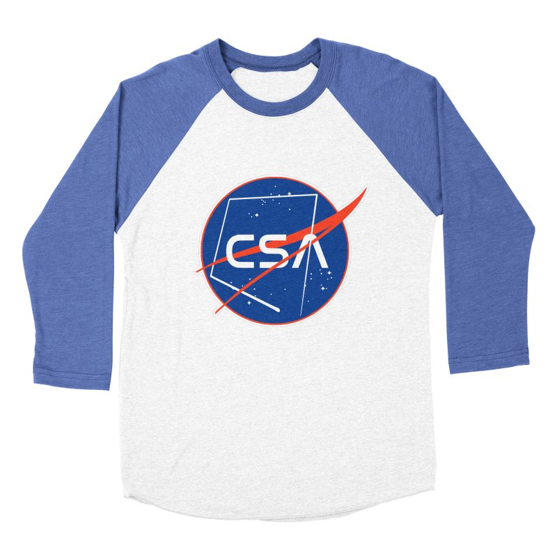 Camp Space Andrews Men's Baseball Triblend Longsleeve T-Shirt by Camp St. Andrews