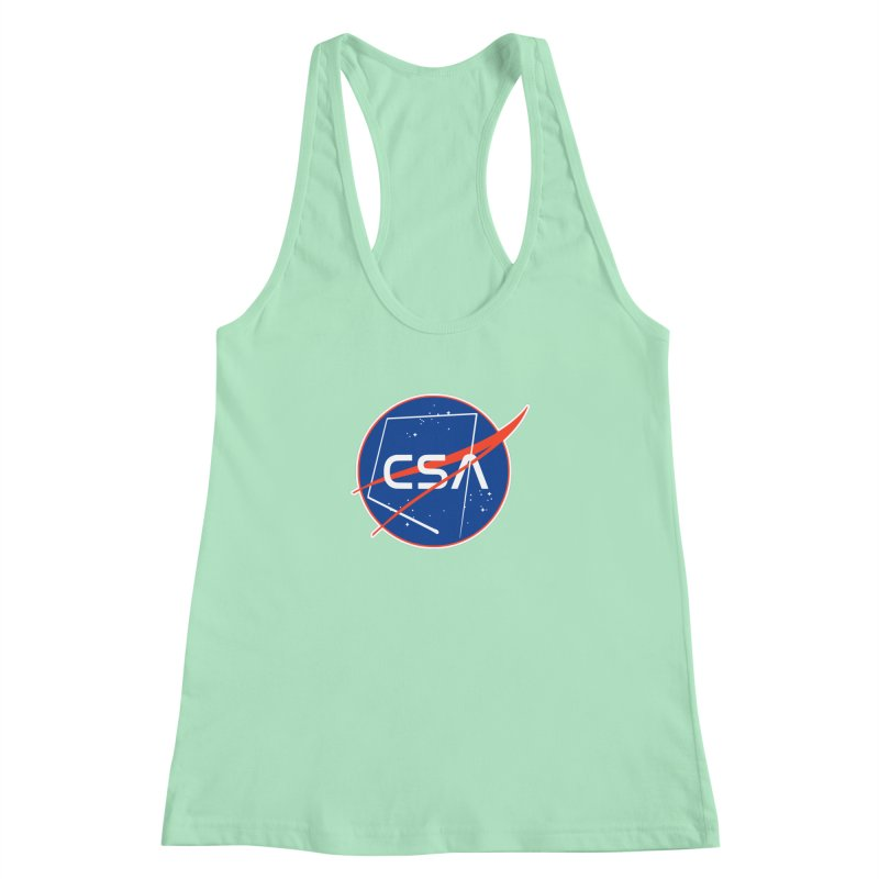 Camp Space Andrews Women's Racerback Tank by Camp St. Andrews