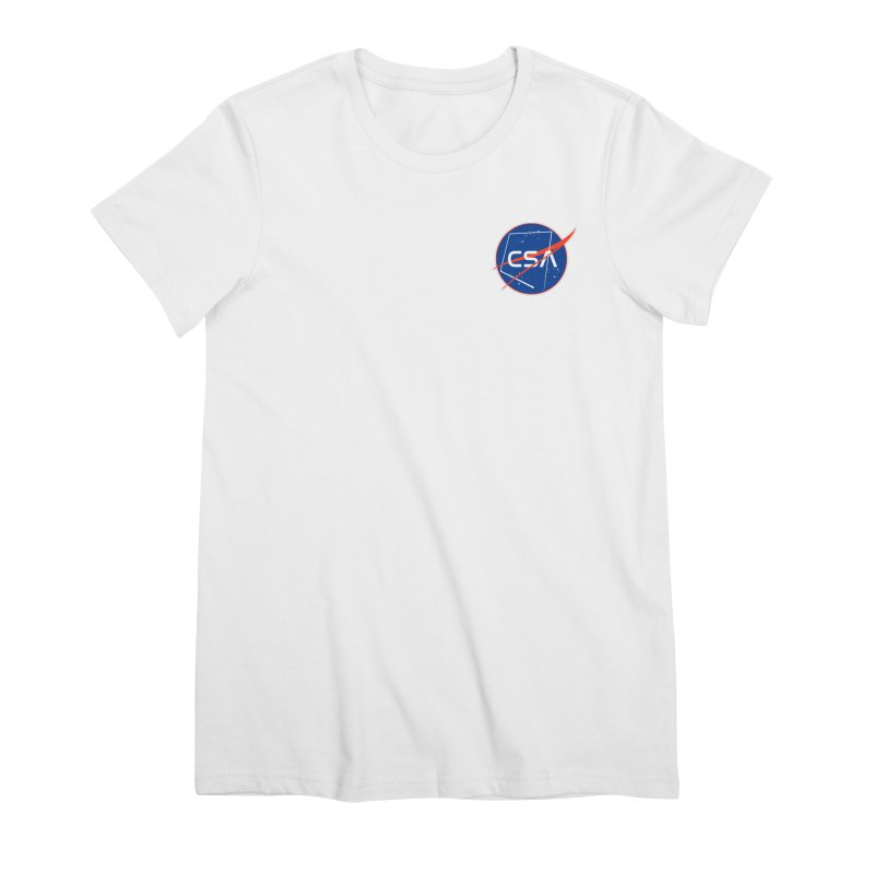 Camp Space Andrews Women's Premium T-Shirt by Camp St. Andrews