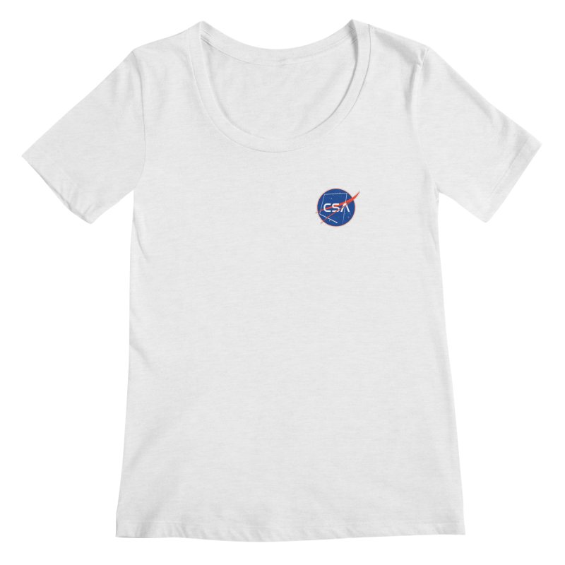 Camp Space Andrews Women's Regular Scoop Neck by Camp St. Andrews