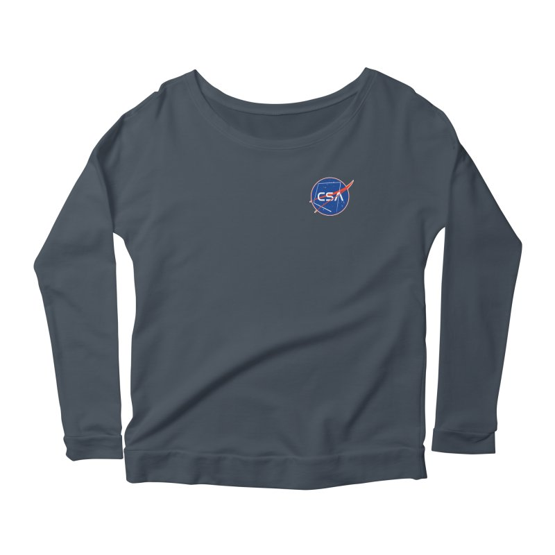 Camp Space Andrews Women's Scoop Neck Longsleeve T-Shirt by Camp St. Andrews