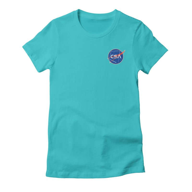 Camp Space Andrews Women's Fitted T-Shirt by Camp St. Andrews