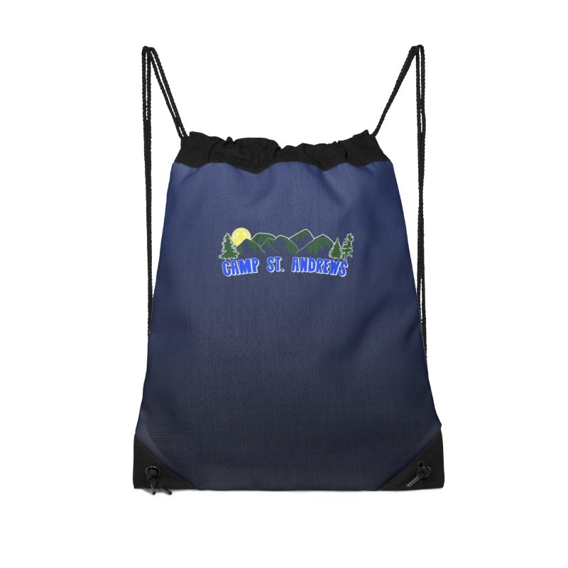CSA Bags - Blue Mountains Logo Accessories Drawstring Bag Bag by Camp St. Andrews