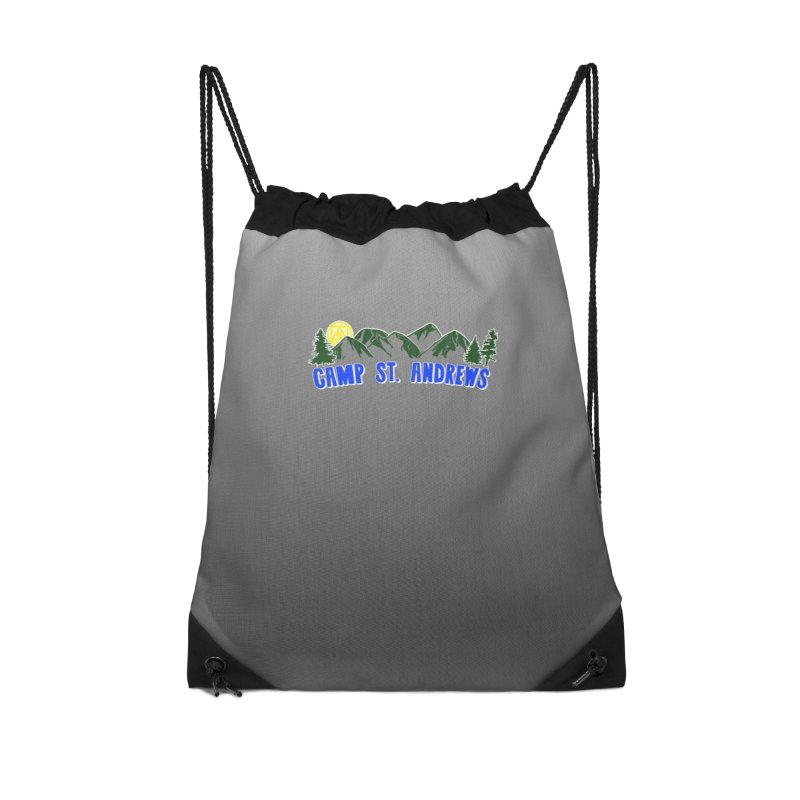CSA Bags - Gray Mountains Logo Accessories Drawstring Bag Bag by Camp St. Andrews