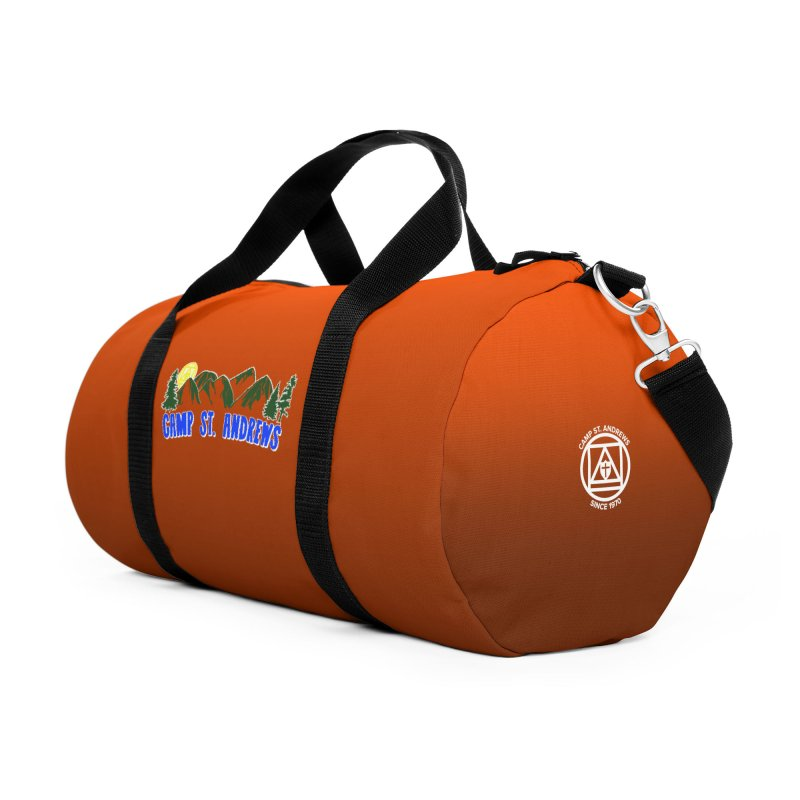 CSA Bags - Orange Mountains Logo Accessories Duffel Bag Bag by Camp St. Andrews