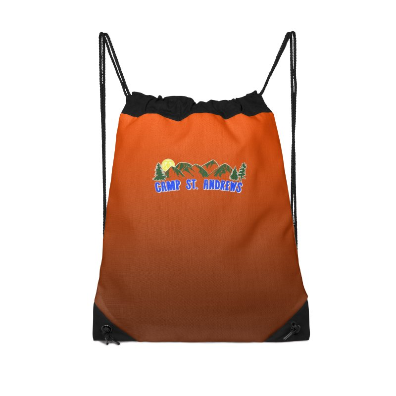 CSA Bags - Orange Mountains Logo Accessories Drawstring Bag Bag by Camp St. Andrews