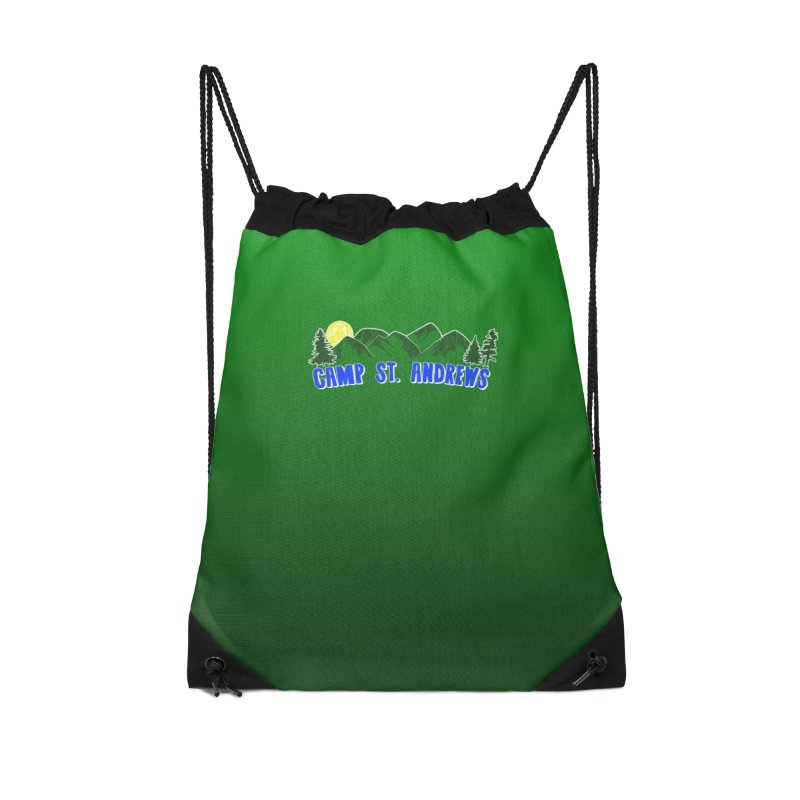 CSA Bags - Green Mountains Logo Accessories Drawstring Bag Bag by Camp St. Andrews