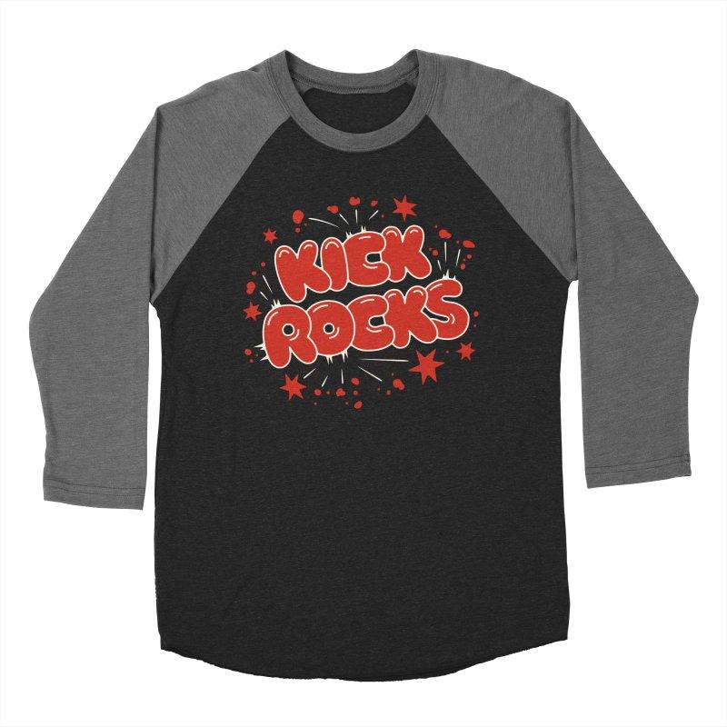 Kick Rocks Men's Baseball Triblend Longsleeve T-Shirt by Cody Weiler