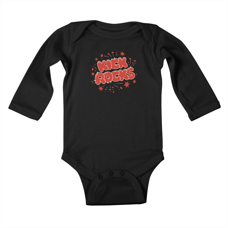 Kick Rocks Kids Baby Longsleeve Bodysuit by Cody Weiler