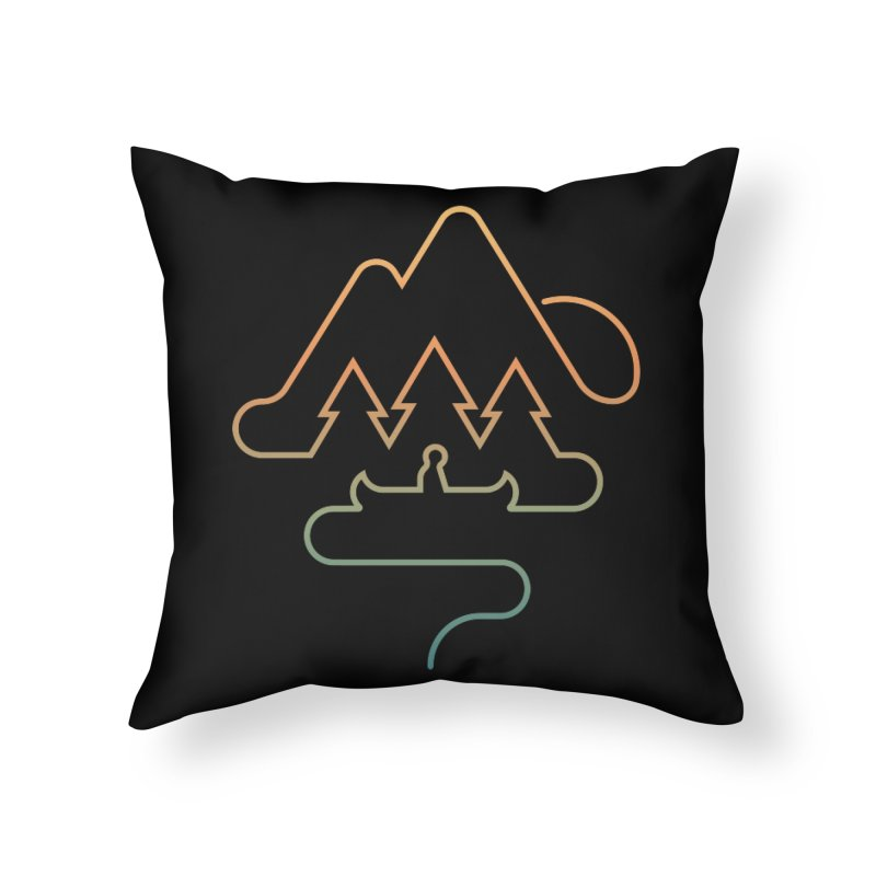 Treeline Home Throw Pillow by Cody Weiler