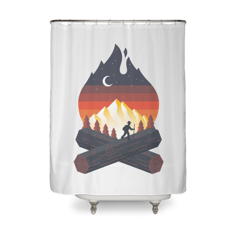 Wildfire Home Shower Curtain by Cody Weiler