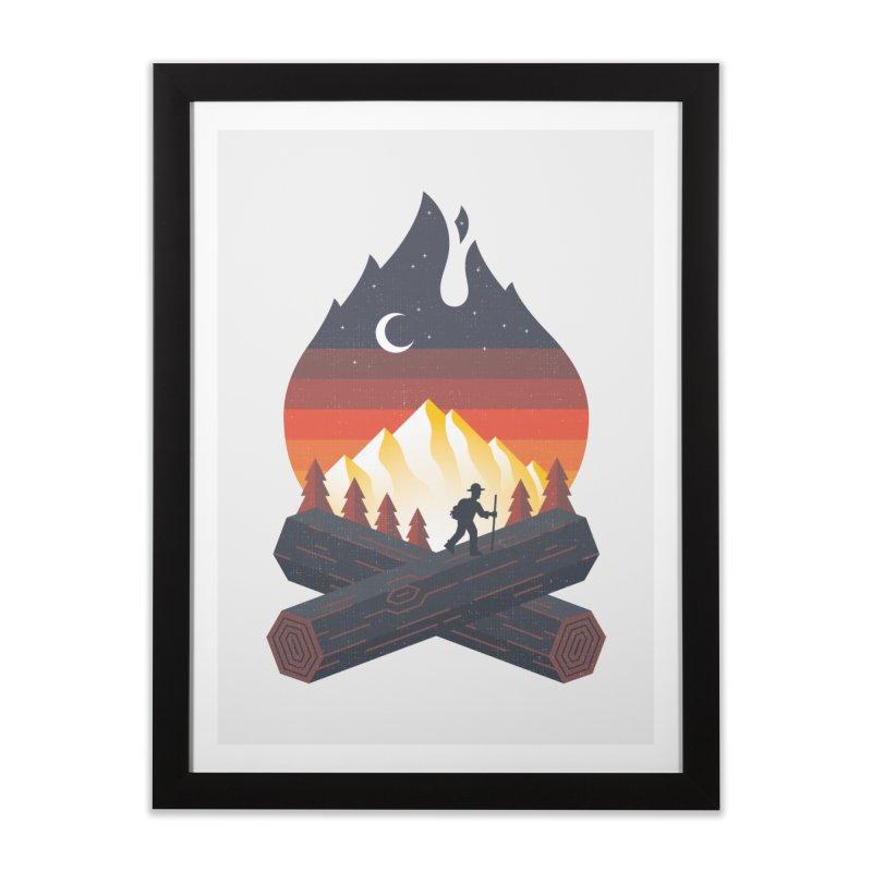 Wildfire Home Framed Fine Art Print by Cody Weiler