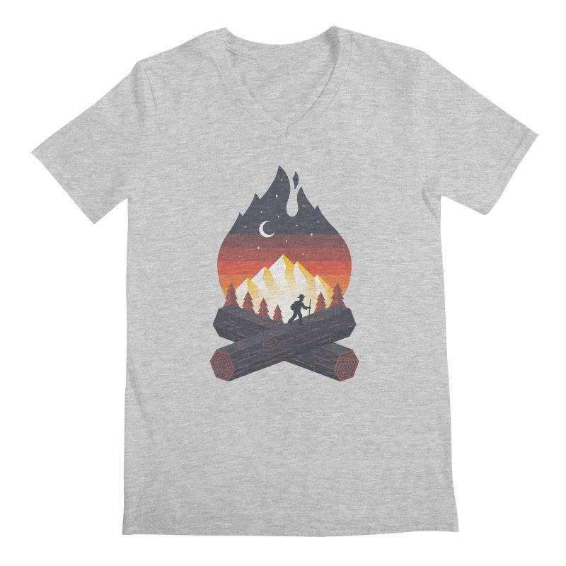 Wildfire Men's V-Neck by Cody Weiler