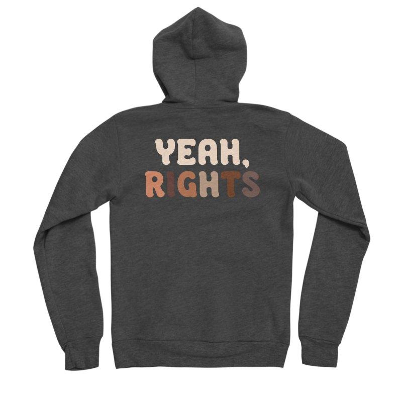Yeah, Rights II Men's Zip-Up Hoody by Cody Weiler