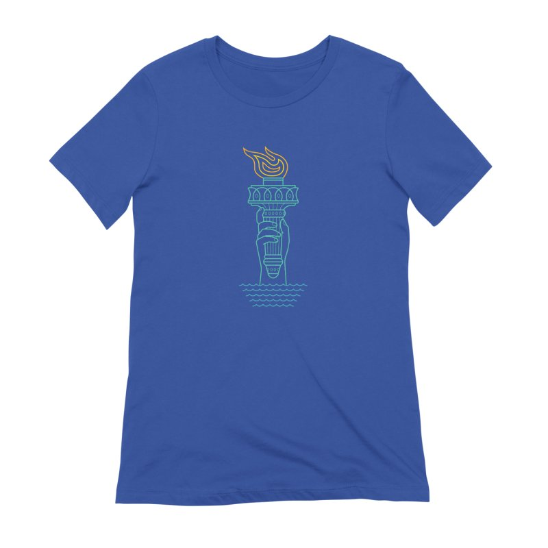 Rising Tide in Women's Extra Soft T-Shirt Royal Blue by Cody Weiler