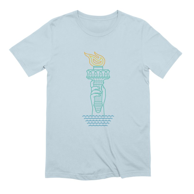 Rising Tide in Men's Extra Soft T-Shirt Baby Blue by Cody Weiler