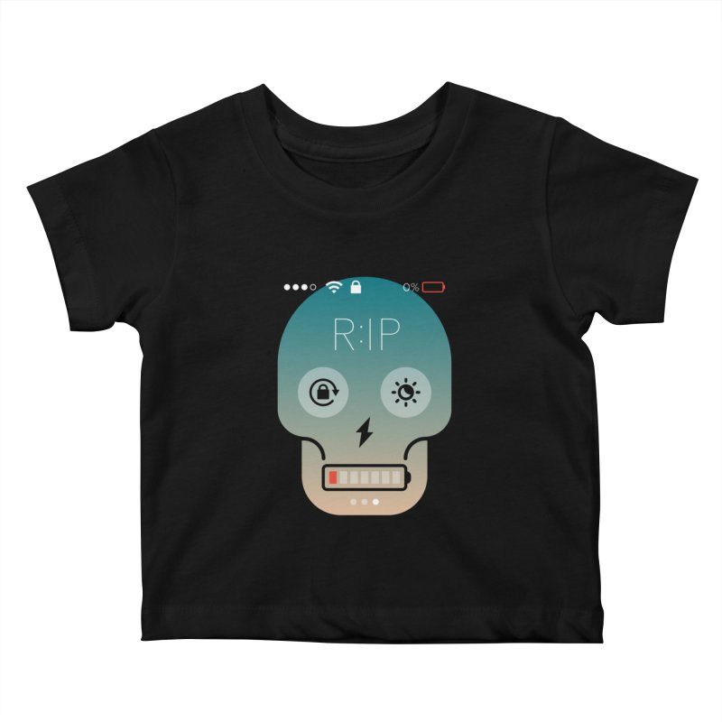 Sorry, my phone died. Kids Baby T-Shirt by csw