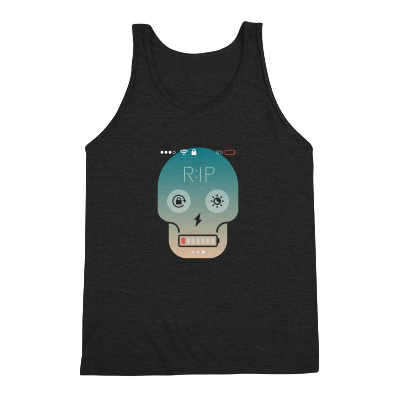Sorry, my phone died. Men's Triblend Tank by csw