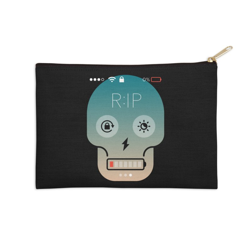 Sorry, my phone died. Accessories Zip Pouch by csw