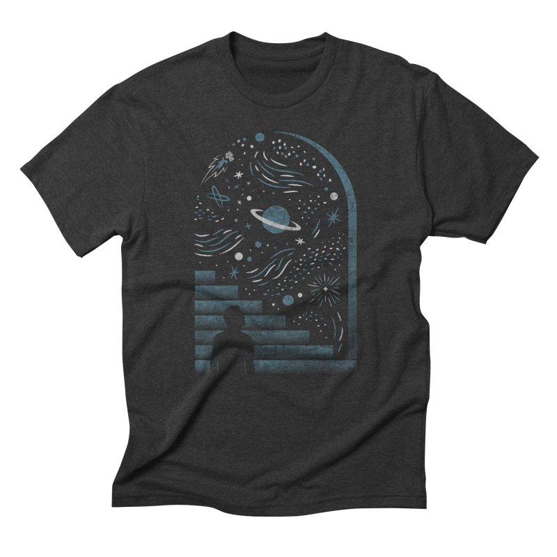 Open Space Men's Triblend T-shirt by csw