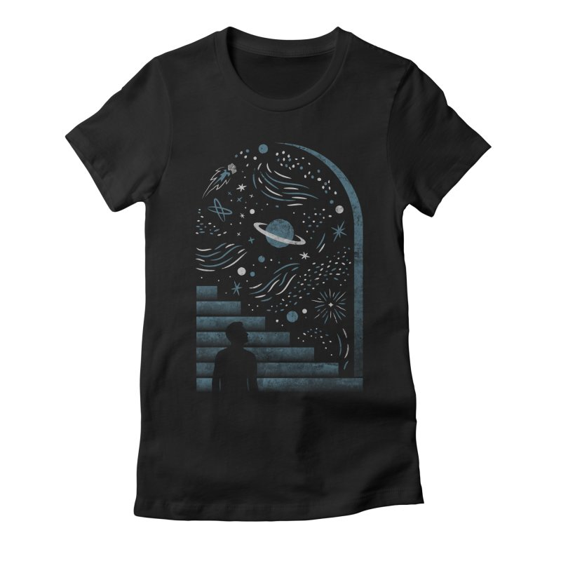 Open Space Women's Fitted T-Shirt by csw