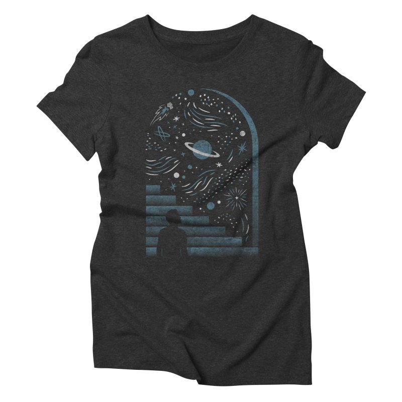 Open Space Women's Triblend T-shirt by csw