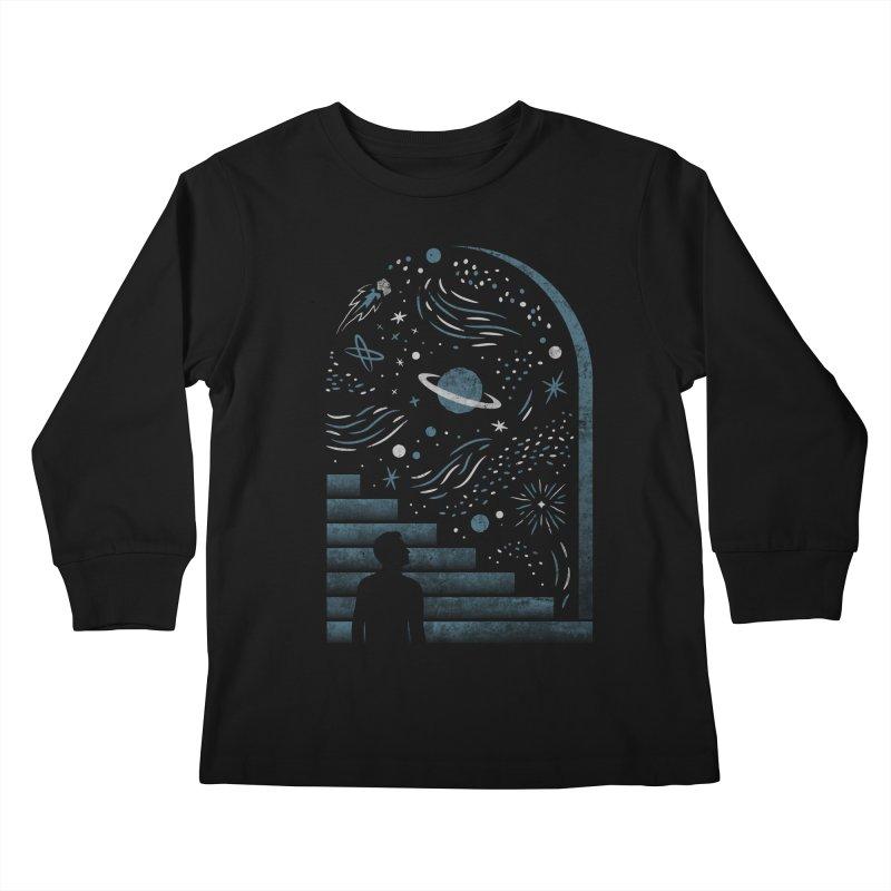 Open Space Kids Longsleeve T-Shirt by csw