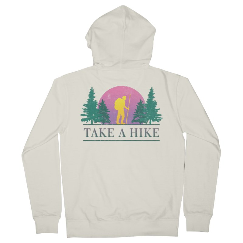 Take a Hike Men's Zip-Up Hoody by csw