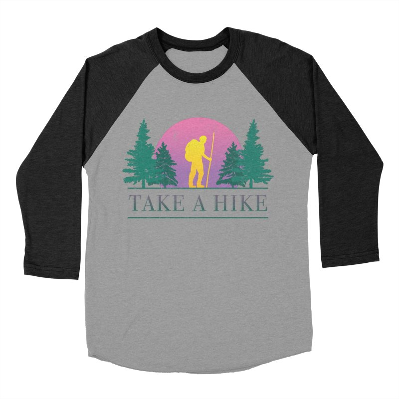 Take a Hike Men's Baseball Triblend T-Shirt by csw