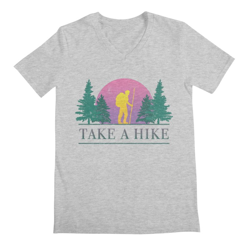 Take a Hike Men's V-Neck by csw