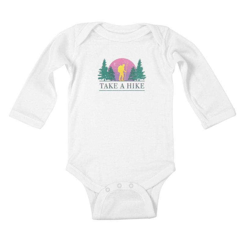 Take a Hike Kids Baby Longsleeve Bodysuit by csw