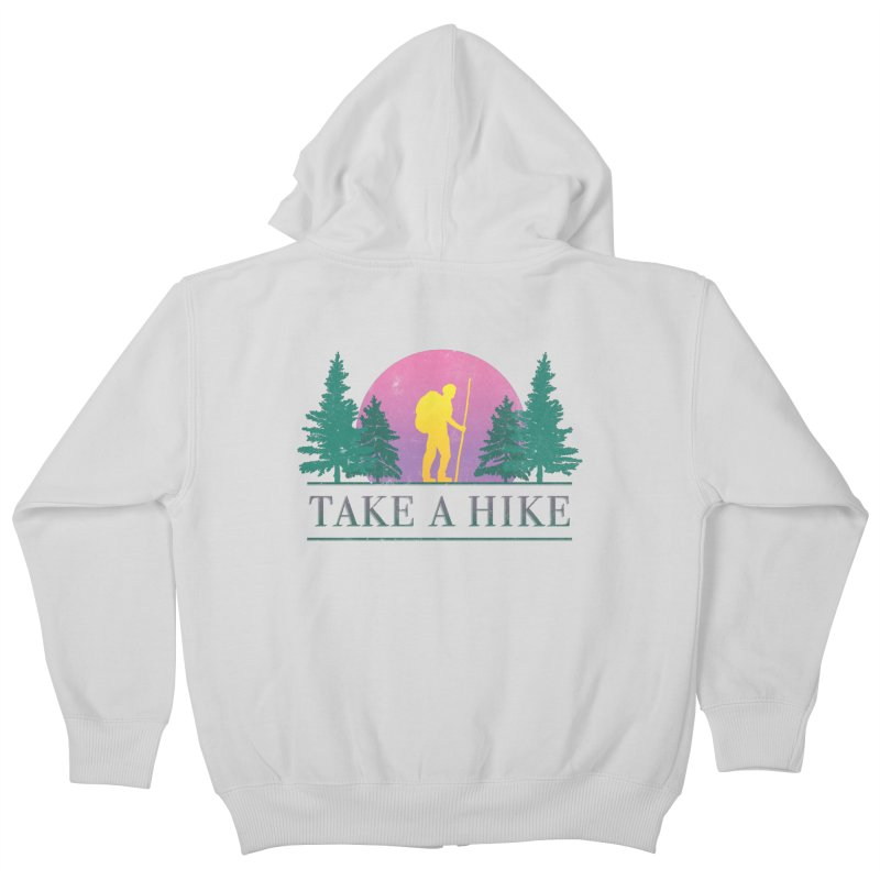 Take a Hike Kids Zip-Up Hoody by csw