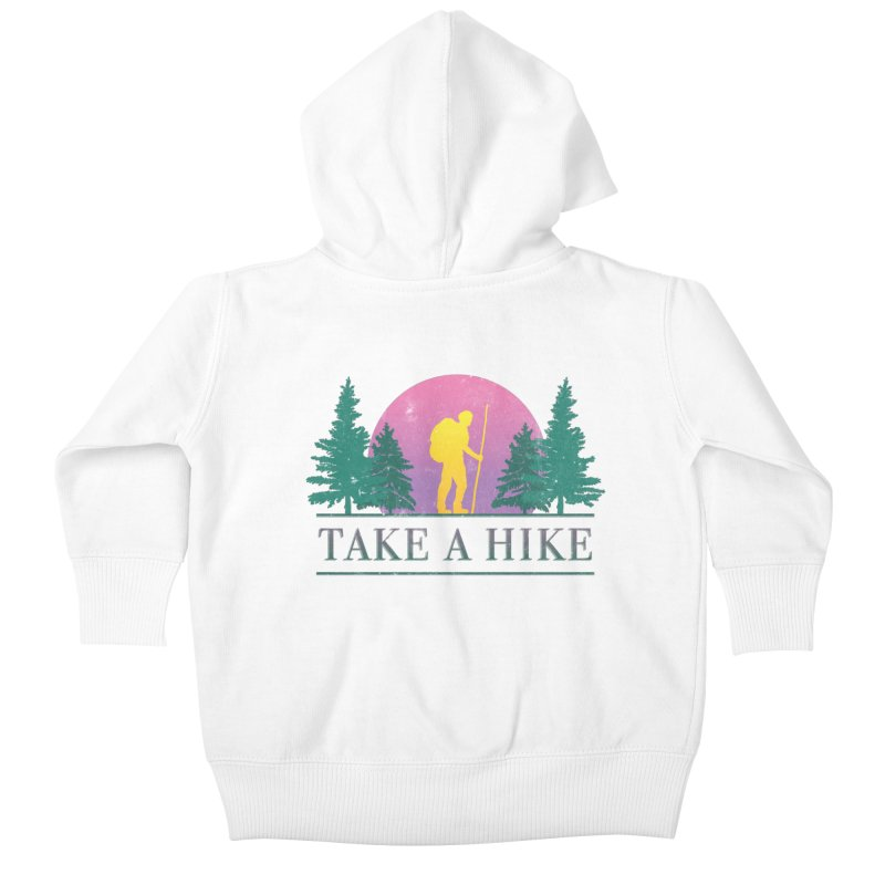 Take a Hike Kids Baby Zip-Up Hoody by csw